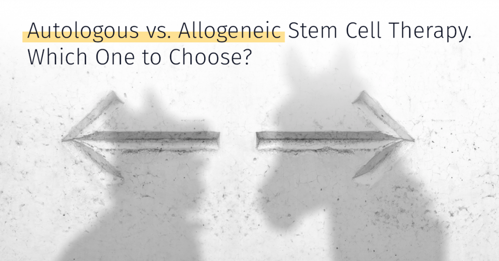 autologous vs. allogeneic stem cell therapy