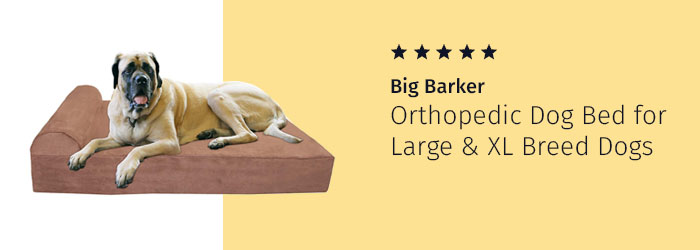 Big Barker Top Orthopedic Dog Bed for Large and Extra Large Breed Dogs, dog stem cell treatment